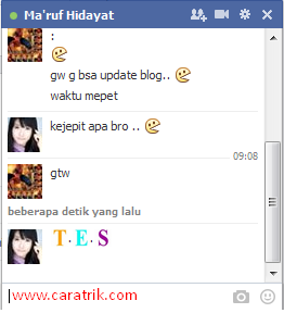 Cara Membuat Teks Warna Warni di Chat Facebook