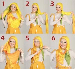 Cara Dan Trik Memakai Jilbab Kreasi Modern