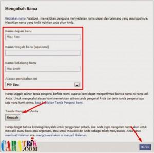 Cara merubah nama Facebook yang tidak bisa dirubah