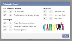 Cara menggunakan facebook dengan pintasan keyboard