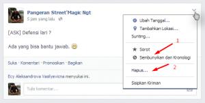 Cara hilangkan foto atau status di kronologi facebook